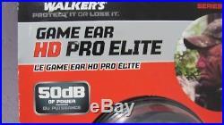 WALKERS GAME EAR HD PRO ELITE WGE-XGE2B HEARING PROTECTION & ENHANCEMENT 50dB