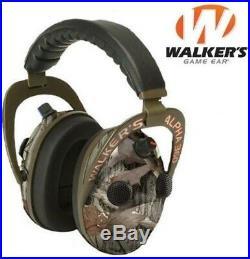 Walker Game Ear Alpha 360 Camo Shooting Range Ear Muffs Quad Microphone AM360NXT