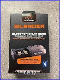Walker's GWP-SLCR-BT Silencer Bluetooth Hearing Enhancement Electronic Ear Buds