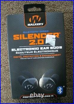 Walker's GWP-SLCR2-BT Silencer 2.0 Bluetooth Electronic Ear Buds