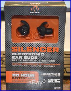 Walker's GWPSLCR Electronic InEar Silencer Earbuds NRR 25db