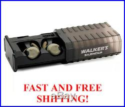 Walker's Game Ear Silencer Ear Buds Rechargeable NRR23dB GWP-SLCRRC-FDE