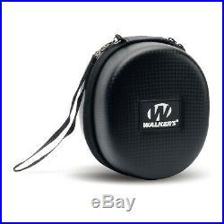 Walker's Razor Slim Electronic Muff (Black, 2-Pack) with Accessory Bundle
