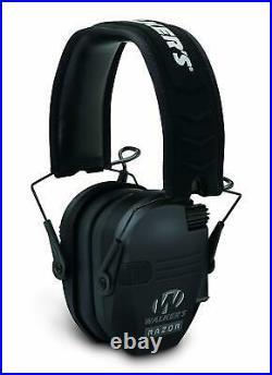 Walker's Razor Slim Electronic Shooting Muffs 3-Pack, Black