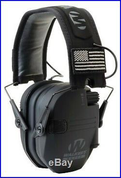 Walker's Razor Slim Electronic Shooting Muffs 3-Pack, Black America Patch