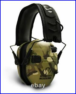 Walker's Razor Slim Electronic Shooting Muffs 4-Pack (Multi Cam Camo Tan)