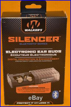 Walker's Silencer Bluetooth Electronic Ear Buds Hearing Protection & Enhancement