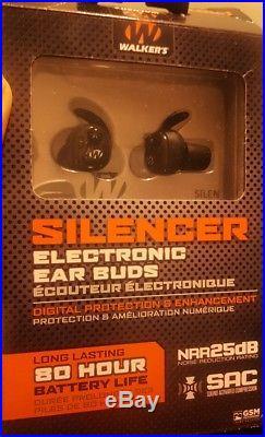 Walker's Silencer Electronic Ear Buds 25 Decibels GWP SLCR