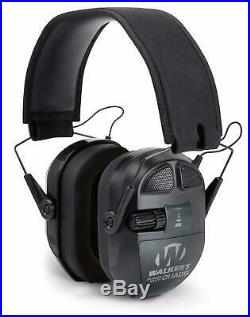 Walkers Game Ear Shooting Ultimate Power Muff Quads with AFT/Electric, Black