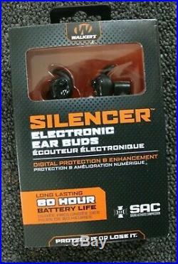 Walkers Game Ear Silencer-Ear Buds Electronic 25dB NRR Black/Gray GWPSLCR