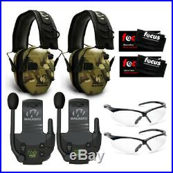 Walkers Razor Electronic Muffs (MultiCam Camo) 2-Pack, Walkie Talkies & Glasses