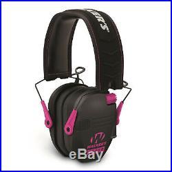 Walkers Razor Slim Electronic Muffs (Pink) 2-Pack with Walkie Talkies & Glasses