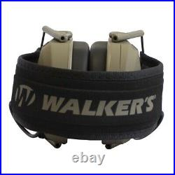 Walkers Razor Slim Protection Electronic Shooting Ear Muffs, Dark Earth (3 Pack)