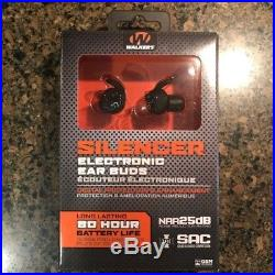 Walkers SILENCER Ear Buds Electronic 25dB BLACK (GWP-SLCR) FAST SHIPPING