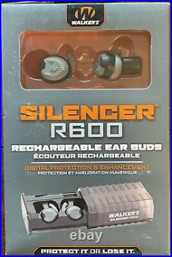 Walkers Silencer R600 GWP-SLCRRC Rechargeable Ear Electronic Shooting Earbuds